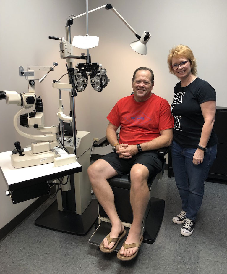 Andy at the optometrist