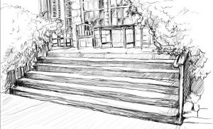 front porch drawing