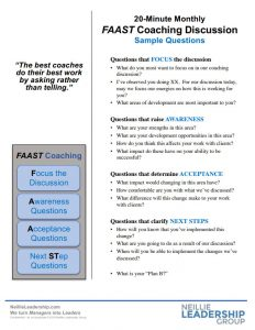FAAST Coaching Discussion