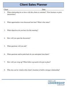 Client Sales Planner