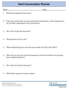 Hard conversation planner